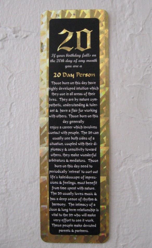 Birthday bookmark original size