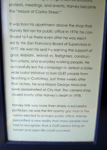 Harvey Milk-575 Castro Street door sign