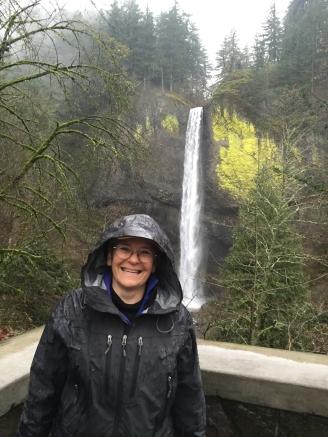 Beverly portait Bridal Veil Falls Columbia River Gorge 1-2016