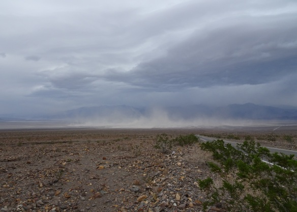 Sandstorm view from near Emigrant Campground Death Valley 2-2016 smaller