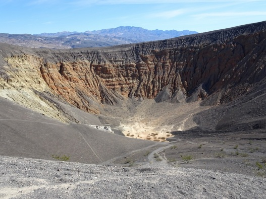 Ubehebe Crater rim view Death Valley 2-2016 smaller